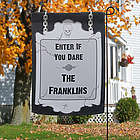 Personalized Halloween Enter If Your Dare Garden Flag