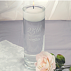 25th Wedding Anniversary Floating Candle Vase
