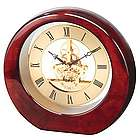 Da Vinci Mahogany Finish Wood Desk Clock