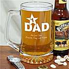 Personalized #1 Dad Sports Glass Mug