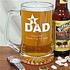 Personalized #1 Dad Sports Glass Mug