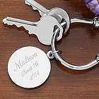 Town and Country Engraved Silver Plated Key Chain