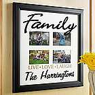 Personalized Family Live Laugh Love Frame
