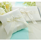 """Tied with a Bow"" Collection Guest Book & Ring Pillow Set"