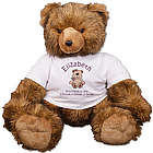 Personalized New Baby Brown Bear Stuffed Animal