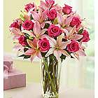 Magnificent Pink Rose and Lily Bouquet