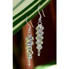 Sterling Silver Cascading Curls Drop Earrings
