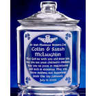 Personalized Irish Marriage Blessing Etched Glass Cookie Jar
