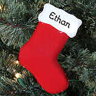 Red Stocking Engraved Christmas Ornament