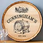 Barrel of Vino Personalized Wine Barrel Sign