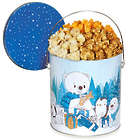 Let It Snow 1 Gallon Holiday Popcorn Tin People's Choice Mix