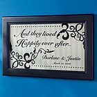 And They Lived Happily Ever After Personalized Print