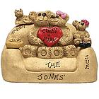 Teddy Bear Family Personalized on Love Seat