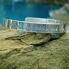 One in A Million Hand Stamped Cuff Bracelet in Sterling Silver
