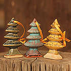 Celadon Ceramic Winter Pines Ornaments