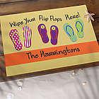 Wipe Your Flip Flops Here Personalized Doormat