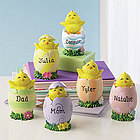 Personalized Easter Chicks in Egg Figurine