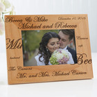 Mr. & Mrs. Collection Engraved Wedding Frame