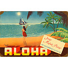 Aloha Metal Sign
