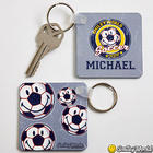 Smiley Sports Personalized Key Ring