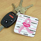 Hope And Love Personalized Breast Cancer Awareness Key Chain