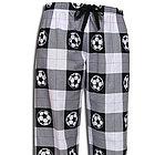 Soccer Ball Plaid Flannel Pant