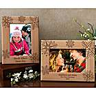 Personalized Snowflake Wooden Picture Frame