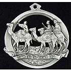 Wise Men Christmas Pewter Ornament