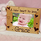 New Baby She's All Heart Personalized Wood Picture Frame