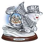 Thomas Kinkade Crystal Sledding Snowman Figurine