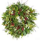 Handmade Dogwood and Pinecone Wreath