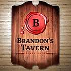 Wax Seal Personalized Bar Sign