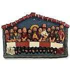 The Last Supper Painted Ceramic Retablo