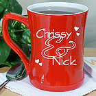 Couples Personalized Two Toned Coffee Mug
