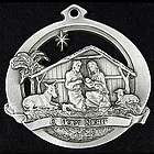 O Holy Night Pewter Christmas Ornament