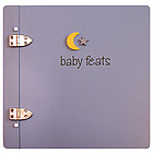 Baby Feats Scrapbook Journal in Blue