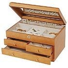 Jene Florentine Maple Finish Jewelry Box