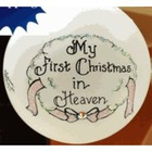 """My First Christmas in Heaven"" Ornament for a Girl"