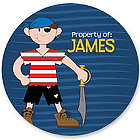 Property of Pirate Personalized Labels