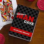 Man Cave Personalized Playing Cards