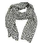 Black & White Classic Leopard Print Scarf