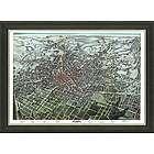 Framed Map of Vintage Atlanta