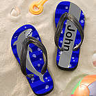 Personalized Boy's Shark Flip Flop Sandals