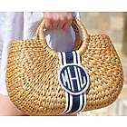 Monogrammed Kala Basket Bag