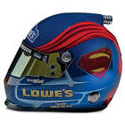 Jimmie Johnson Superman No 48 NASCAR Racing Helmet Sculpture