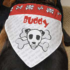 Bad To The Bone Personalized Dog Bandana