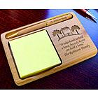 Personalized Home Sweet Home Wooden Notepad & Pen Holder