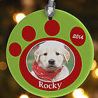 Pawprint On Our Hearts Personalized Pet Ornament