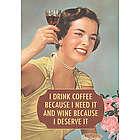 Drink Coffee and Wine Birthday Card