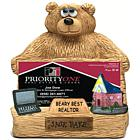 Personalized Bear Business Card Holder for Realtor